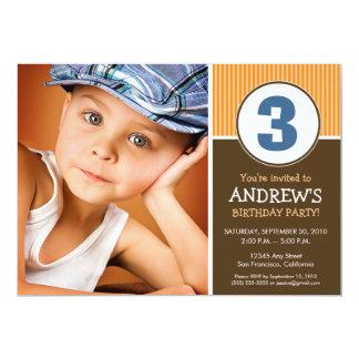 Simple & Sweet Chocolate/Orange Birthday Invite