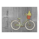 Simple & Sweet Gray Christmas Bike Card