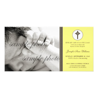 Simple & Sweet Lemon Yellow Baptism Announcement