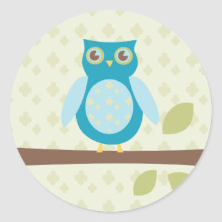 Simple Sweet Owl Classic Round Sticker