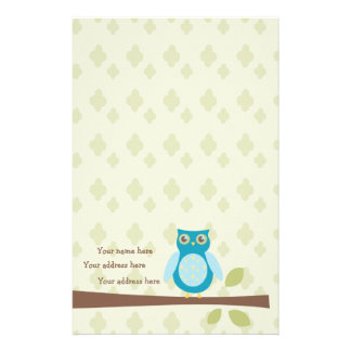 Simple Sweet Owl Stationery