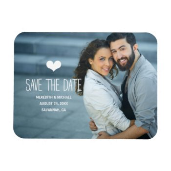 Simple & Sweet   Photo Save the Date Magnet