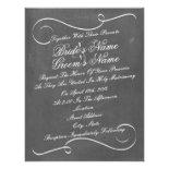 Simple Swirls Chalk Inspired Wedding Invite