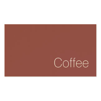 Simple Swiss Dark Loyalty Coffee Punch-Card Double-Sided Standard Business Cards (Pack Of 100)