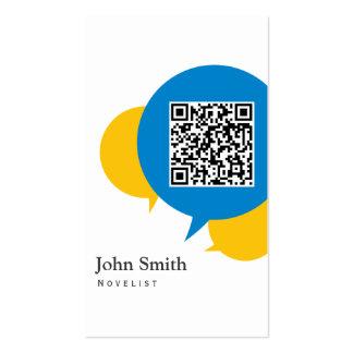 Simple Talk Bubbles Novelist Business Card