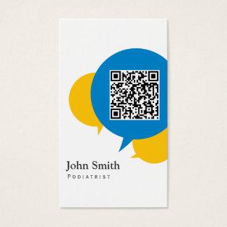 Simple Talk Bubbles Podiatrist Business Card