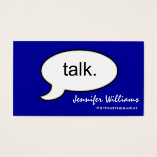 Simple Talk Psychotherapist Modern Business Card