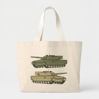 Simple tanks vector large tote bag