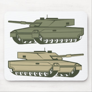Simple tanks vector mouse pad