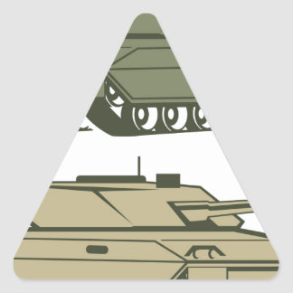 Simple tanks vector triangle sticker