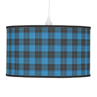 Simple tartan pattern in dark blue ceiling lamp