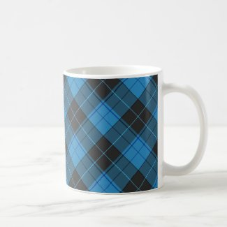 Simple tartan pattern in dark blue Coffee Mug