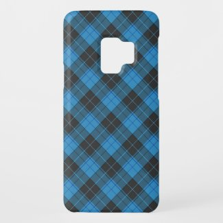 Simple tartan pattern in dark blue diagonal Uncomm Case-Mate Samsung Galaxy S9 Case