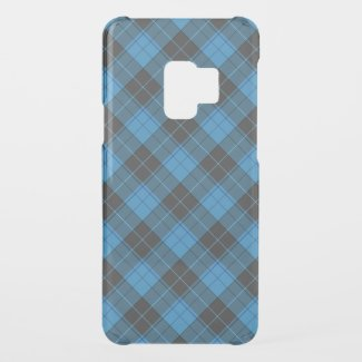 Simple tartan pattern in dark blue diagonal uncommon samsung galaxy s9 case