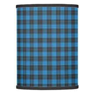 Simple tartan pattern in dark blue lamp shade