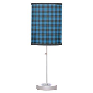 Simple tartan pattern in dark blue table lamp