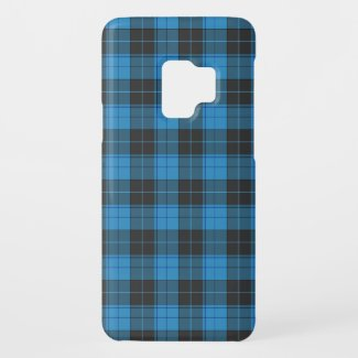 Simple tartan pattern in dark blue Uncomm Case-Mate Samsung Galaxy S9 Case