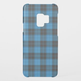 Simple tartan pattern in dark blue... uncommon samsung galaxy s9 case