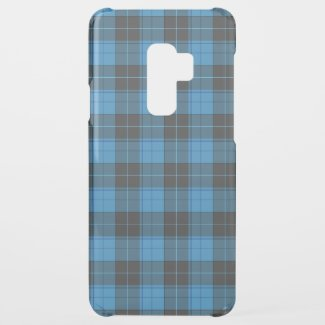 Simple tartan pattern in dark blue... uncommon samsung galaxy s9 plus case
