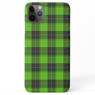 Simple tartan pattern in dark green iPhone 11 pro max case