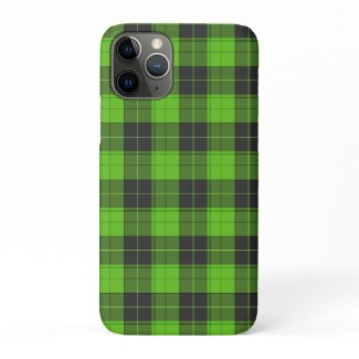 Simple tartan pattern in dark green iPhone 11 pro case