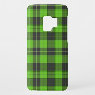 Simple tartan pattern in dark green Case-Mate samsung galaxy s9 case