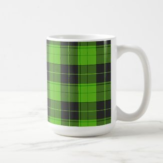 Simple tartan pattern in dark green Coffee Mug
