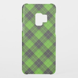 Simple tartan pattern in dark green diagonal uncommon samsung galaxy s9 case
