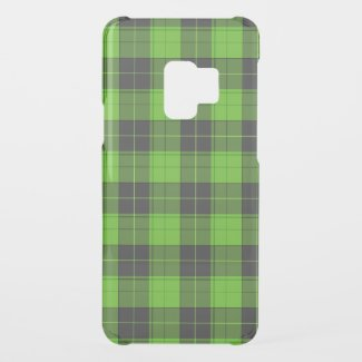 Simple tartan pattern in dark green uncommon samsung galaxy s9 case