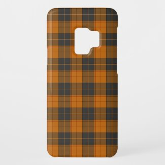 Simple tartan pattern in dark orange Case-Mate samsung galaxy s9 case