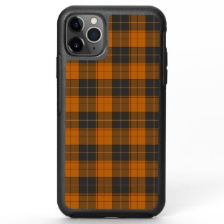 Simple tartan pattern in dark orange OtterBox symmetry iPhone 11 pro max case