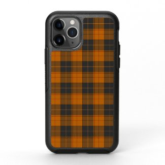 Simple tartan pattern in dark orange OtterBox symmetry iPhone 11 pro case
