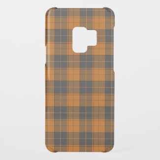 Simple tartan pattern in dark orange uncommon samsung galaxy s9 case