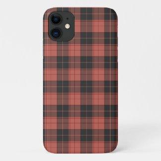 Simple tartan pattern in red iPhone 11 case