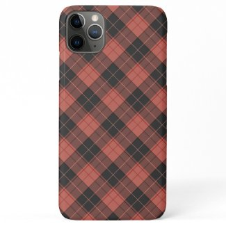 Simple tartan pattern in red iPhone 11 pro max case