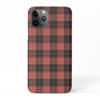 Simple tartan pattern in red iPhone 11 pro case