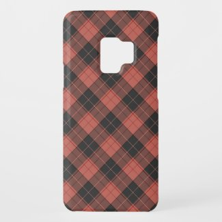 Simple tartan pattern in red Case-Mate samsung galaxy s9 case