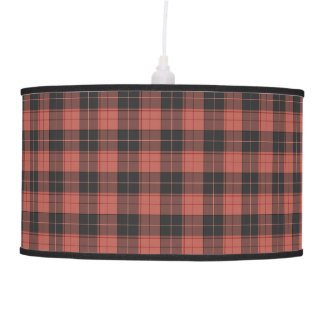 Simple tartan pattern in red ceiling lamp