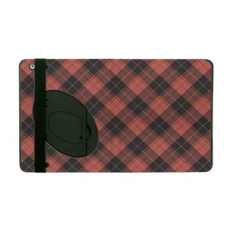 Simple tartan pattern in red iPad case