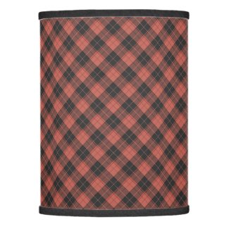Simple tartan pattern in red lamp shade
