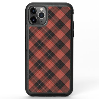 Simple tartan pattern in red OtterBox symmetry iPhone 11 pro max case