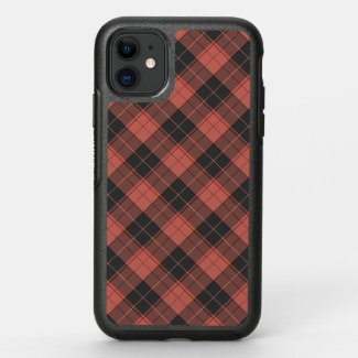 Simple tartan pattern in red OtterBox symmetry iPhone 11 case