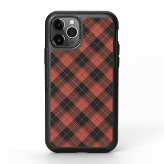 Simple tartan pattern in red OtterBox symmetry iPhone 11 pro case