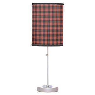 Simple tartan pattern in red table lamp