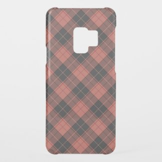 Simple tartan pattern in red uncommon samsung galaxy s9 case