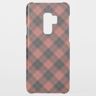 Simple tartan pattern in red uncommon samsung galaxy s9 plus case