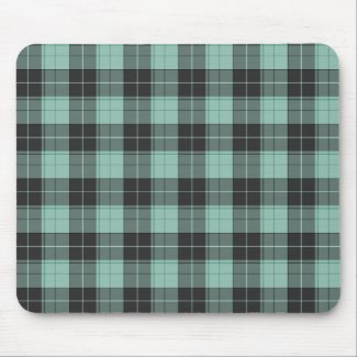 Simple tartan pattern in turquoise mouse pad
