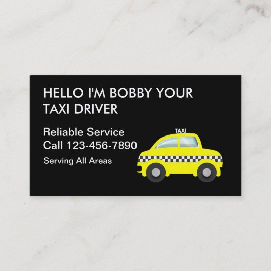 Simple Taxi Business Cards Zazzle