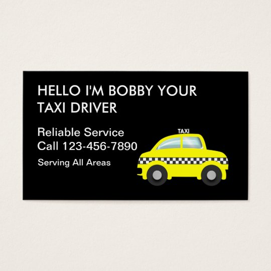 simple taxi business cards - Taxi Business Cards