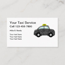 Simple Taxi Or Ride Share Business Card